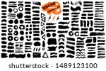 brush strokes. vector... | Shutterstock .eps vector #1489123100