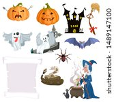a selection of characters... | Shutterstock .eps vector #1489147100