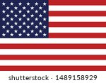 united states flag  vector... | Shutterstock .eps vector #1489158929