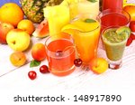 juice from cherry  apricot ... | Shutterstock . vector #148917890