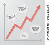 elegant line chart illustration | Shutterstock .eps vector #148918196