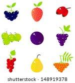 fresh summer berries and exotic ... | Shutterstock .eps vector #148919378