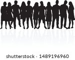 group of people. crowd of... | Shutterstock .eps vector #1489196960