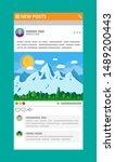 social network interface...