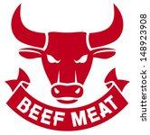 beef meat label  bull head    Shutterstock .eps vector #148923908