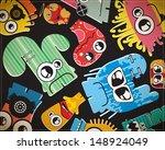monsters | Shutterstock .eps vector #148924049