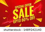 sale banner red template.flash... | Shutterstock .eps vector #1489242140