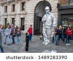 london  august 2019. street...   Shutterstock . vector #1489283390