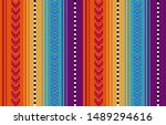 blanket stripes seamless vector ... | Shutterstock .eps vector #1489294616
