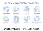 demand and supply concept icons ... | Shutterstock .eps vector #1489316336