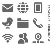 communication web icons  grey... | Shutterstock .eps vector #148934783