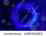 beautiful multicolored abstract ... | Shutterstock . vector #1489356083