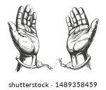 Hands Break The Chain Handcuffs ...
