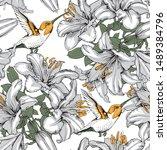 floral seamless pattern....   Shutterstock .eps vector #1489384796