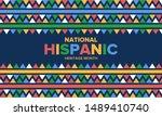national hispanic heritage...   Shutterstock .eps vector #1489410740