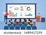 business seminar speakers ... | Shutterstock .eps vector #1489417259