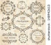 vector set  calligraphic design ... | Shutterstock .eps vector #148942613