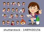 businesswomen with different... | Shutterstock .eps vector #1489430156