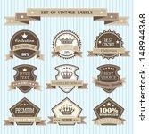 set of vintage labels | Shutterstock .eps vector #148944368