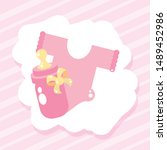 cute clothes for baby with...   Shutterstock .eps vector #1489452986