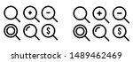 simple vector magnifier icon....