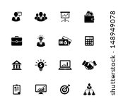 image set of 16 business icons   Shutterstock . vector #148949078