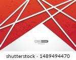 red geometric vector background ... | Shutterstock .eps vector #1489494470