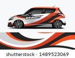 car wrap graphic racing... | Shutterstock .eps vector #1489523069