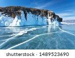 Winter Landscape Of The Frozen...