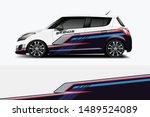 car wrap graphic racing... | Shutterstock .eps vector #1489524089