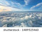 winter landscape of the frozen... | Shutterstock . vector #1489525460