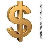 golden dollar sign  cmyk vector  | Shutterstock .eps vector #148953023