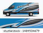 van wrap livery design. ready... | Shutterstock .eps vector #1489534679