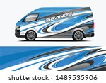 van wrap livery design. ready... | Shutterstock .eps vector #1489535906