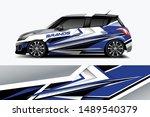 car wrap graphic racing... | Shutterstock .eps vector #1489540379