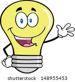 Light Bulb Cartoon Mascot...