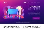 movie night with friends.... | Shutterstock .eps vector #1489560560
