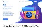 electrician service. air... | Shutterstock .eps vector #1489560596
