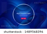 dynamic blue 3d textured style... | Shutterstock .eps vector #1489568396