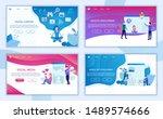 digital content landing page... | Shutterstock .eps vector #1489574666
