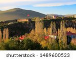the ardahan castle in ardahan city of turkey