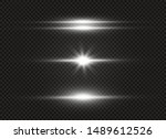 white glowing light explodes on ... | Shutterstock .eps vector #1489612526