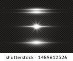 white glowing light explodes on ... | Shutterstock .eps vector #1489612526