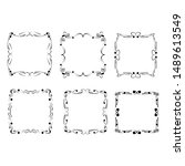 set of vintage frames on white... | Shutterstock . vector #1489613549