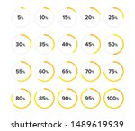 set of circle diagrams for... | Shutterstock .eps vector #1489619939