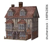 Medieval Town House  Isolated...