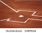 Home Plate Before the Game - stock photo