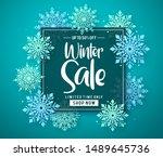 winter sale vector banner... | Shutterstock .eps vector #1489645736