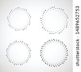 halftone dots in circle form.... | Shutterstock .eps vector #1489652753