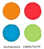 colorful round banners.grunge...   Shutterstock .eps vector #1489679279